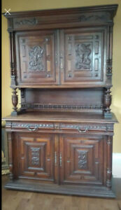 Sacrifice price!!!   Gorgeous 1870 French Hunt Cabinet