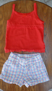 Fille (Mini 2T) Cami Children's Place & short Circo (5$ les 2)