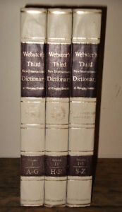 Webster's Three Volume Dictionary - Great For Writers!
