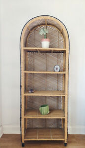 Boho wicker shelf