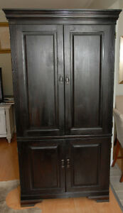 Armoire/Entertainment unit solid wood -Restoration Hardware