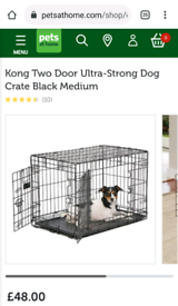 Kong Two Door Ultra-Strong Dog Crate Black Medium