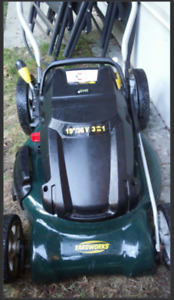 """Cordless Electric 36V 19"""" Yardworks Lawnmower and Trimmer ~ $60"""