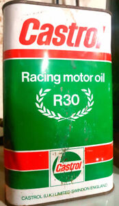 Castrol Racing old oil can