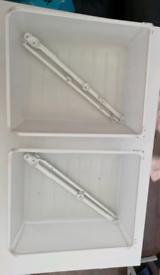 Ikea pax wardrobe white mesh wire basket drawer 2 sizes