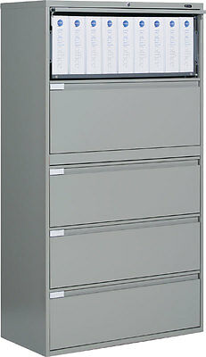 Metal 5 Drawer 42 Wide Lateral File Cabinet Office Furniture