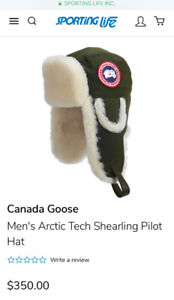 New Canada Goose Shearling Aviator hat, size S/M
