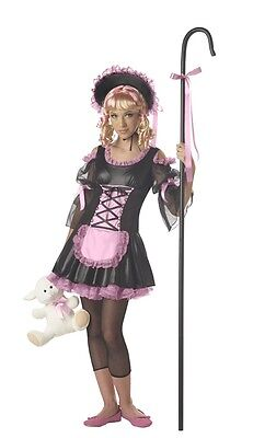 ***** CUTE ***** TEEN GIRLS TWEEN PINK & BLACK LITTLE BO PEEP HALLOWEEN COSTUME