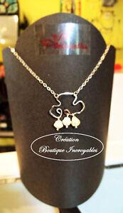 Promo: Collier à pendentif (Pluie de Perles) martelé avec Perles