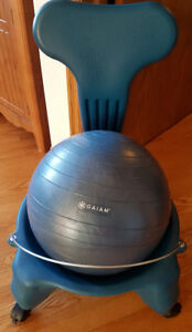 Gaiam Balance Ball Chair - Classic Yoga Ball Chair with 52cm