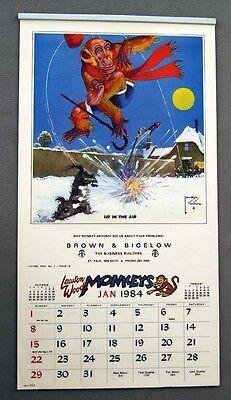 Monkeys Calendar - Vintage 1984 2040 Lawson Wood Monkeys Calendar 12 IMAGES