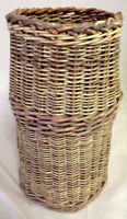 176: Small Wicker Cylindrical Basket $30