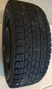 Four 205/55R16 Winter Tires On Steel Rims, Excellent Condition.
