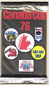 CANADA CUP 76 - SEALED PACKS OF HOCKEY CARDS
