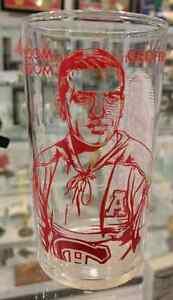 Vintage 1961 'BERNIE BOOM BOOM GEOFFRION-YORK' Glass