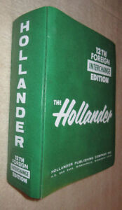 12th ed Hollander Interchange Foreign Edition 1960s-1988