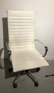 White Office Chair - Swivel -  Used