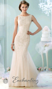 Size 6 Mon Cherie Enchanting Wedding Dress
