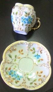 Old Blue Tea Cup and Saucer