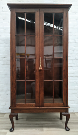 Large Queen Anne Style Display Cabinet (DELIVERY AVAILABLE)
