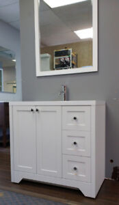 "New white shaker style 36"" Vanity incl sink top"