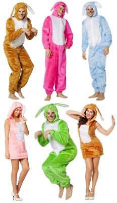 Plüsch Kostüm Hase Bunny Tier Overall Häschen Herren Kleid Hasen Damen - Kaninchen Kostüm