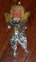 Made in Japan angel doll foil christmas tree ornament decoration