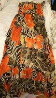 WOMENS STRAPLESS FLORAL SUN DRESS M /MEDIUM NWOT
