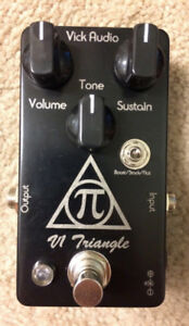 Vick Audio V1 Triangle Big Muff pedal w/Flat and Boost settings