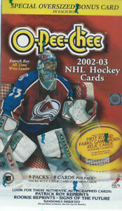 2002-03 O-Pee-Chee Hockey Box ( 9 packs - 81 cards)