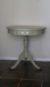 Vintage French Country Round Accent Table