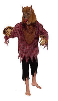 Wolf Wolfs Werwolf Kostüm Hund Hemd Werwolfkostüm Halloween Märchen Maske Fetzen