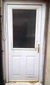 Solid Composite Door & Handle, £10