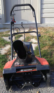 Snow blower electric.