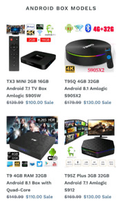 Android tv boxes major brands 2018-2019 models
