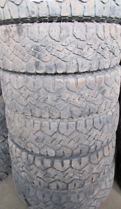6 Tires sized LT245.75.17 at 50-60% Tread left on them