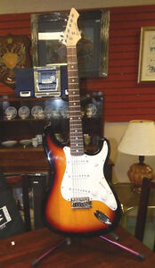 barracuda strat style guitar nice shape (no string)