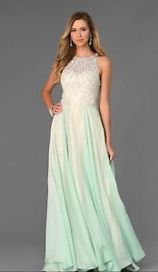 Grad Dress Aqua Color