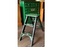 Hand Painted Step Ladder