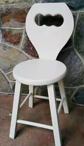 Solid Wood Chair/Stool  (PIERREFONDS)