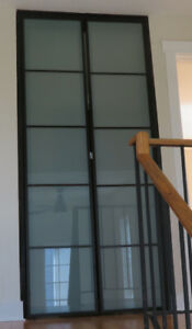 Interior Doors with frosted glass panes
