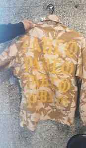 Pablo camo jacket with patches