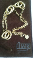 New Italian Gold Necklace and Silver Bracelet for Sale
