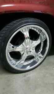 22 inch chrome wheels 22x9 GM 5 Bolt
