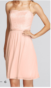 Strapless Pink Bridesmaid/Formal Dress