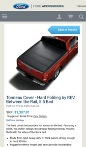 Tonneau Cover hard fol 15 and up F150 5.5 bed