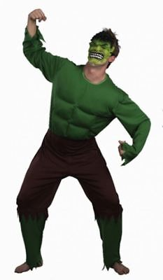 Adult Men's Green Giant Halloween Incredible Hulk Fancy Dress Outfit Superhero