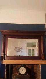 Antique over the mantel mirror