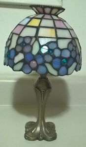 Vintage Retired PartyLite Hydrangea Tealight Lamp Tiffany Style
