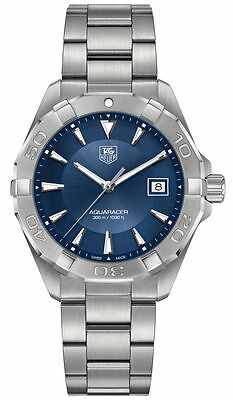 New Tag Heuer Aquaracer 300M Blue Sunray Dial Steel Men's Watch WAY1112.BA0928